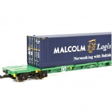 Graham Farish 377-353A Intermodal bogie wagons Malcolm Logistics
