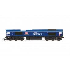 Hornby R3919 class 66 locomotive Teesport Express