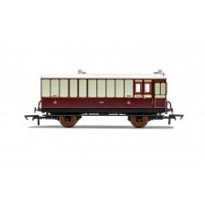 Hornby R40076 4 wheel coach Brake Baggage class LNWR