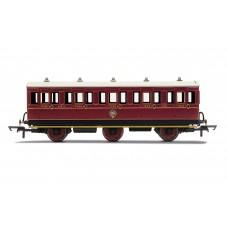 Hornby R40136 6 wheel coach 3rd class NBR