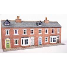 Metcalfe pn174 terraced houses red brick low relief