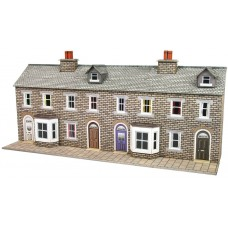 Metcalfe pn175 terraced houses stone low relief