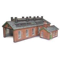 Metcalfe po313 engine shed double track brick